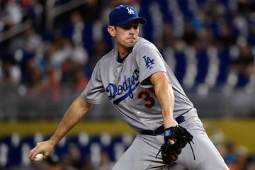 Brandon McCarthy Los Angeles Dodgers v Miami Marlins