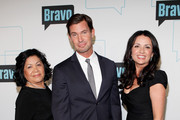 (L-R) TV personalities Zoila Chavez, Jeff Lewis and Jenni Pulos attend the Bravo Upfront 2012 at Center 548 on April 4, 2012 in New York City.