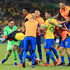 Roberto Firmino Photos - Players of Brazil celebrate after winning the Copa America Brazil 2019 Semi Final match between Brazil and Argentina at Mineirao Stadium on July 02, 2019 in Belo Horizonte, Brazil. - Brazil v Argentina: Semi Final - Copa America Brazil 2019