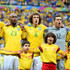 Jo Thiago Silva Photos - Jo, Maicon, David Luiz, Julio Cesar and Thiago Silva of Brazil sing the National Anthem prior to during the 2014 FIFA World Cup Brazil Third Place Playoff match between Brazil and the Netherlands at Estadio Nacional on July 12, 2014 in Brasilia, Brazil. - Brazil v Netherlands: 3rd Place Playoff - 2014 FIFA World Cup Brazil
