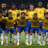 Alexandre Photos - Brazil's football team players (1st row, L-R) Neymar, Daniel, Alexandre, Lucas and Maxwell, (2nd row, L-R) goalkeeper Diego, Paulinho, Ramires, Lucas, Anderson and David line up before the international friendly match between Brazil and Zambia at Beijing National Stadium on October 15, 2013 in Beijing, China. - Brazil v Zambia