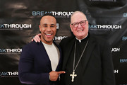 Producer DeVon Franklin and Cardinal Timothy Dolan attend a special New York screening of 'Breakthrough' at The Sheen Center on March 11, 2019 in New York City.