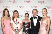 (L-R) Grace Elizabeth, Aerin Lauder, Jane Hudis, Fabrizio Freda and Carolyn Murphy attend the Hot Pink Party hosted by the Breast Cancer Research Foundation at Park Avenue Armory on May 15, 2019 in New York City.