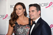 Ingrid Vandebosch and Jeff Gordon attend the Breast Cancer Research Foundation Hot Pink Gala hosted by Elizabeth Hurley at Park Avenue Armory on May 17, 2018 in New York City.