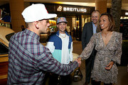 Breitling Ambassador and Motorcross racer Ken Roczen, Professional skateboarder Ryan Sheckler, Breitling USA President Thierry Prissert and Professional surfer Sally Fitzgibbons attend the Breitling Boutique San Diego grand opening celebration on February 05, 2020.