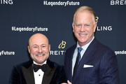 "Breitling CEO Georges Kern and Boomer Esiason on the red carpet at the #LEGENDARYFUTURE"" Roadshow 2018 New York on February 22, 2018."