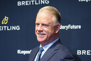 Boomer Esiason on the red carpet at the #LEGENDARYFUTURE? Roadshow 2018 New York on February 22, 2018.