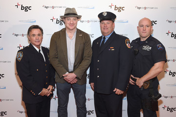 Brendan Fraser Annual Charity Day Hosted By Cantor Fitzgerald, BGC and GFI - BGC Office - Arrivals