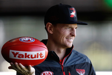 Brendon Goddard Essendon Bombers Media & Training Session