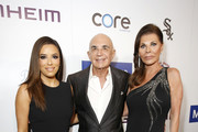 (L-R) Eva Longoria, Robert Shapiro, and Linell Shapiro attend Brent Shapiro Foundation Summer Spectacular 2019 at The Beverly Hilton Hotel on September 21, 2019 in Beverly Hills, California.