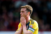 Scott Parker of Fulham looks dejected during the Sky Bet Championship match between Brentford and Fulham at Griffin Park on April 30, 2016 in Brentford, England.