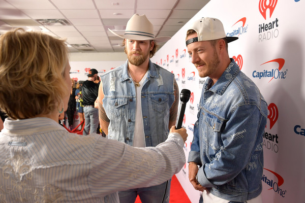 2019 iHeartCountry Festival Presented By Capital One  – Red Carpet [workwear,employment,technology,job,engineer,uniform,gesture,red carpet,brian kelley,tyler hubbard,use,l-r,frank erwin center,austin,capital one,florida georgia line,iheartcountry festival]