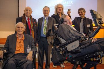 Brian May Professor Stephen Hawking Unveils Medal For Science Communication