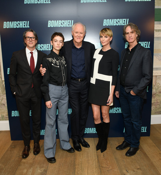 'Bombshell' New York Screening [bombshell,event,team,footwear,white-collar worker,suit,premiere,charles randolph,charlize theron,john lithgow,brigette lundy-paine,jay roach,l-r,new york,screening,new york screening]