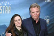 "Mia Quinn (L) and actor Aidan Quinn attends ""Bright Star"" Opening Night on Broadway at The Cort Theatre on March 24, 2016 in New York City."