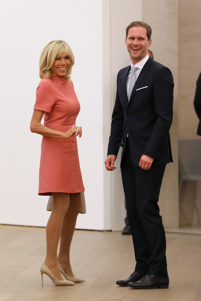 French President Emmanuel Macron And Wife Brigitte Trogneux On A One Day State Visit In Luxembourg