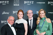 (L-R) Pascal Raffy, Sarah Ferguson, Paul Haggis and Petra Nemcova attend the 'Brilliant Is Beautiful' gala held at Claridge's Hotel on December 1, 2017 in London, England.