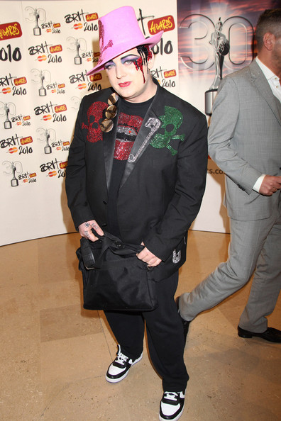 Boy George (UK TABLOID NEWSPAPERS OUT) Boy George arrives at The Brit Awards