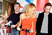Simon Cowell, Amanda Holden and Stephen Mulhern during the 'Britain's Got Talent' Manchester photocall at The Lowry on February 06, 2019 in Manchester, England.