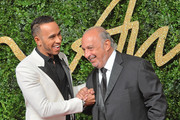Lewis Hamilton and Philip Green attend the British Fashion Awards 2015 at London Coliseum on November 23, 2015 in London, England.