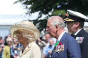 Prince Charles, Prince of Wales and Camilla, Duchess of Cornwall attend a memorial service at Bayeux War Cemetery on June 06, 2019 in Bayeux, France. Veterans, families, visitors, political leaders and military personnel are gathering in Normandy to commemorate D-Day, which heralded the Allied advance towards Germany and victory about 11 months later.