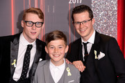 (L-R) Jamie Borthwick, Bleu Landau and Harry Reid attend The British Soap Awards at The Lowry Theatre on June 3, 2017 in Manchester, England. The Soap Awards will be aired on June 6 on ITV at 8pm.