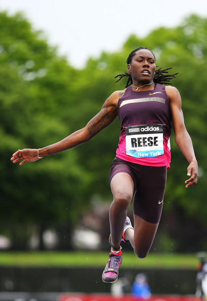 Brittney Reese Track and field athlete, Brittney Reese poses for a ...