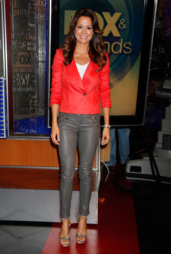 Brooke Burke drops by 'Fox & Friends' at the Fox Studios in New York City on June 5, 2013.