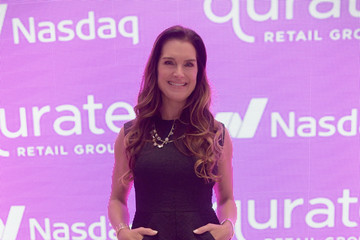 Brooke Shields Qurate Retail Group Opening Bell Ceremony At Nasdaq MarketSite