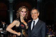Artist Olek and curator Jeffrey Deitch attend the Brooklyn Museum's 4th annual Brooklyn Artists Ball on April 16, 2014 in the Brooklyn borough of New York City.