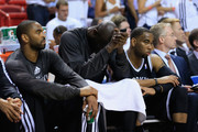 Kevin Garnett #2 of the Brooklyn Nets sits dejected on the bench during the fourth quarter of Game Two of the Eastern Conference Semifinals of the 2014 NBA Playoffs at American Airlines Arena on May 8, 2014 in Miami, Florida. NOTE TO USER: User expressly acknowledges and agrees that, by downloading and or using this photograph, User is consenting to the terms and conditions of the Getty Images License Agreement.