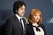 Geoffrey Arend and Christina Hendricks attend the Brooks Brothers Bicentennial Celebration at Jazz At Lincoln Center on April 25, 2018 in New York City.
