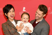 Renee Puente, Revel Morrison, and Matthew Morrison attend the Brooks Brothers And St Jude Children's Research Hospital Annual Holiday Celebration In New York City on December 18, 2018 in New York City.