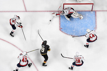 Brooks Orpik Braden Holtby 2018 NHL Stanley Cup Final - Game Two