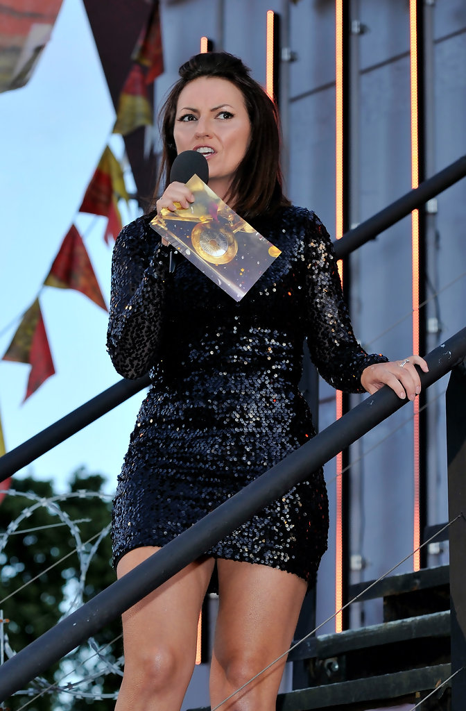 Davina McCall - Celebrity Big Brother launch night at ...