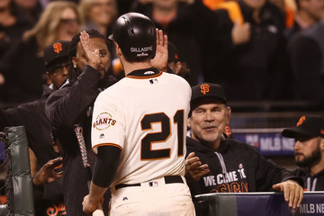 Bruce Bochy Division Series - Chicago Cubs v San Francisco Giants - Game Three