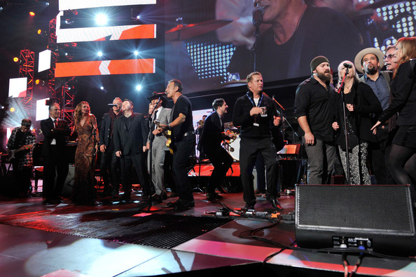 The 55th Annual GRAMMY Awards - MusiCares Person Of The Year Honoring Bruce Springsteen - Show [performance,entertainment,event,music,stage,musician,performing arts,music artist,public event,concert,bruce springsteen,guests,musicares person of the year,california,los angeles,55th annual grammy awards,bruce springsteen - show]