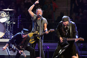 Nils Lofgren, Bruce Springsteen and Stevie Van Zandt  perform onstage at Madison Square Garden on March 28, 2016 in New York City.