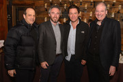 (L-R) Gary Michael Walters, Michael Howells, Dominic West and Chief Executive for British Film Commission Adrian Wootton attend Brunch with the Brits during the 2018 Sundance Film Festival on January 21, 2018 in Park City, Utah.