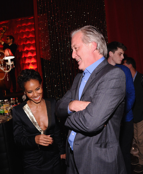 'Gotham' Afterparty in NYC [gotham series premiere,event,fashion,fun,formal wear,suit,smile,jada pinkett smith,bruno heller,gotham,new york city,the new york public library,party,series premiere,party]
