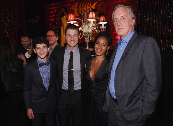 'Gotham' Afterparty in NYC [gotham series premiere,event,fashion,suit,formal wear,night,photography,david mazouz,jada pinkett smith,benjamin mckenzie,bruno heller,l-r,gotham,the new york public library,party,series premiere]