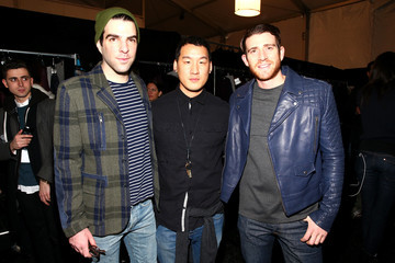 Bryan Greenberg Zachary Quinto Backstage at the Richard Chai Show