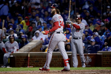 Bryce Harper Divisional Round - Washington Nationals v Chicago Cubs - Game Four