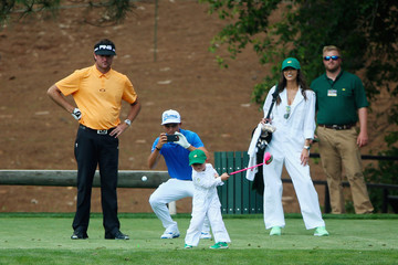 Bubba Watson Rickie Fowler The Masters - Preview Day 3