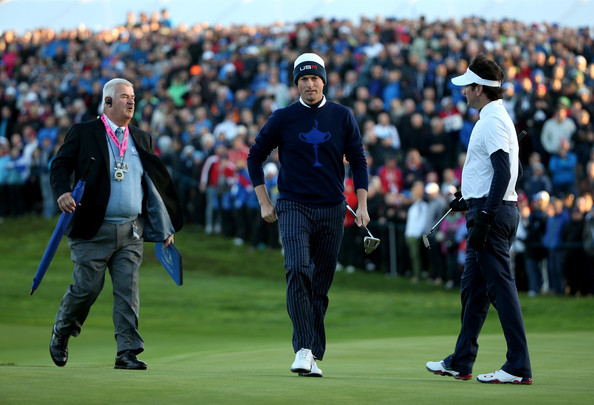 Morning Fourballs [sport venue,sports,championship,golf,recreation,professional golfer,fourball,competition event,sports equipment,player,john paramor,webb simpson,bubba watson,r,c,green,united states,gleneagles hotel,morning fourballs,ryder cup]