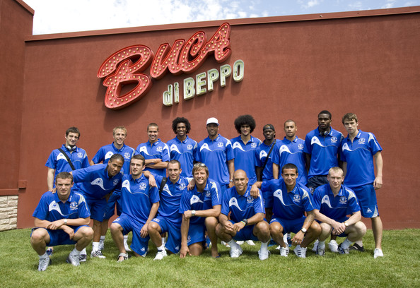 Buca di Beppo Hosts Pre-Game Meal for Everton Football Club (UK)