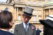 Prince Edward, Duke of Kent talks to guests as they attend a Buckingham Palace Garden Party at Buckingham Palace on June 5, 2018 in London, England.