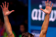 Matt Grevers of The United States celebrates winning the gold medal during the Mixed 4x100m Medley Relay final on day thirteen of the Budapest 2017 FINA World Championships on July 26, 2017 in Budapest, Hungary.