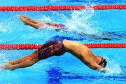 Matt Grevers of The United States competes during the Mixed 4x100m Medley Relay final on day thirteen of the Budapest 2017 FINA World Championships on July 26, 2017 in Budapest, Hungary.