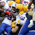 Chris Ivory Photos - Chris Ivory #33 of the Buffalo Bills is brought down by members of the Green Bay Packers defense during the first quarter of a game at Lambeau Field on September 30, 2018 in Green Bay, Wisconsin. - Buffalo Bills vs. Green Bay Packers
